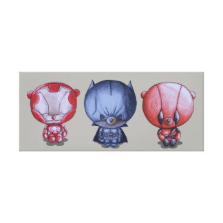 3 Little Heroes Canvas Print