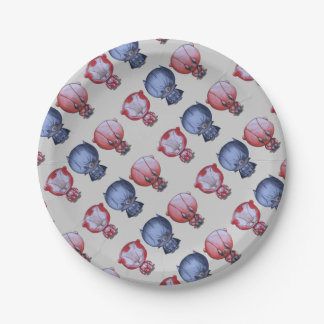 3 Little Heroes Paper Plate