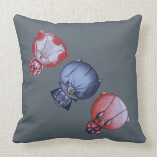 3 Little Heroes Throw Pillow