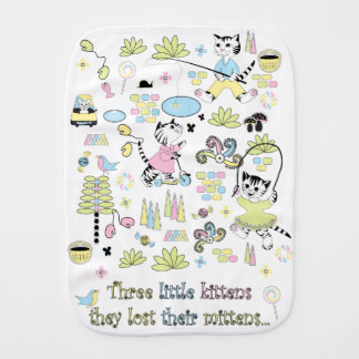3 little kittens Burp Cloth