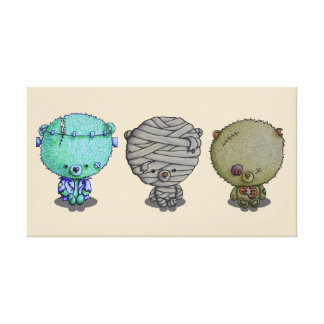 3 Little Monsters Canvas Print