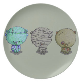 3 Little Monsters Plate