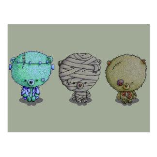 3 Little Monsters Postcard