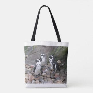 3 Little Penguines Tote Bag