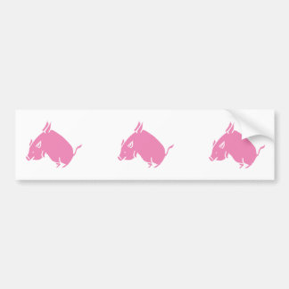 3 Little Pigs fly bumber sticker Bumper Sticker