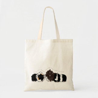 3 long haired piggies budget tote bag