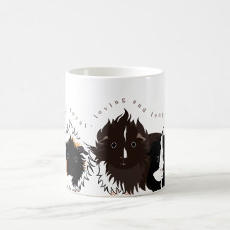 3 long haired piggies coffee mug