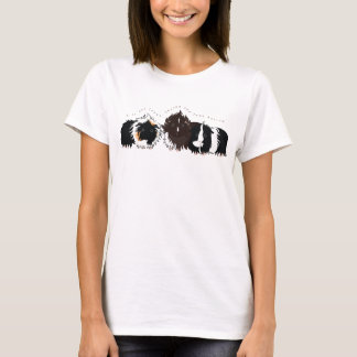 3 long haired piggies T-Shirt