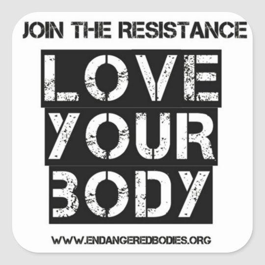 "3"" Love Your Body Sticker"