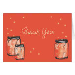 3 Mason Jars filled with Fireflies Card