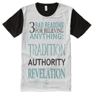 3 mauvaises raisons de croire n'importe quoi t-shirt tout imprimé