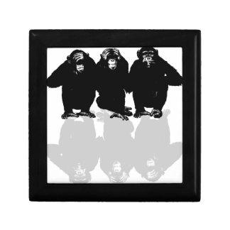 3 monkeys keepsake box
