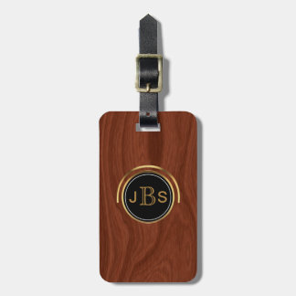 3 Monogrammed Initials | Executive Upscale Luxury Luggage Tag