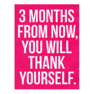 3 MONTHS - Gym/Fitness/Exercise Motivation Postcard