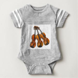3 MUSICAL VIOLINS BABY BODYSUIT