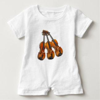 3 MUSICAL VIOLINS BABY ROMPER