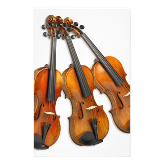 3 MUSICAL VIOLINS CUSTOMIZED STATIONERY