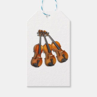 3 MUSICAL VIOLINS GIFT TAGS