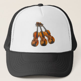 3 MUSICAL VIOLINS TRUCKER HAT