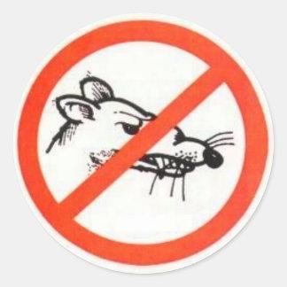 "3"" No Rat sticker"