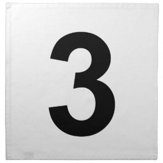 3 - number three napkin