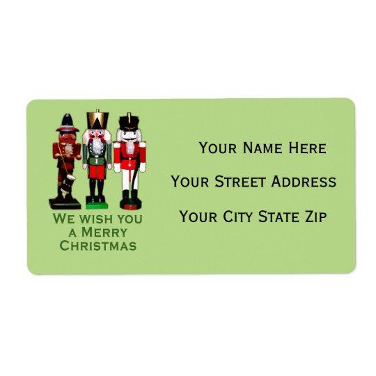 3 Nutcrackers Custom Return Address Labels