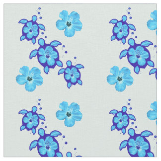 3 Ocean Blue Honu Turtles Fabric