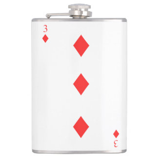 3 of Diamonds Flasks