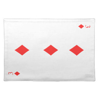 3 of Diamonds Placemat