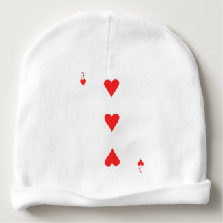 3 of Hearts Baby Beanie