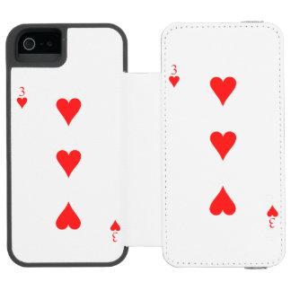 3 of Hearts Incipio Watson™ iPhone 5 Wallet Case
