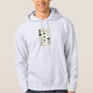 3 of Spades Playing Card Hoodies