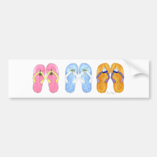 3 Pairs of Flip-Flops Bumper Stickers