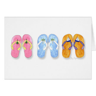 3 Pairs of Flip-Flops Cards
