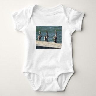 3 Pelicans Baby Bodysuit