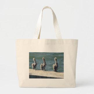 3 Pelicans Large Tote Bag