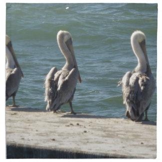 3 Pelicans Napkin