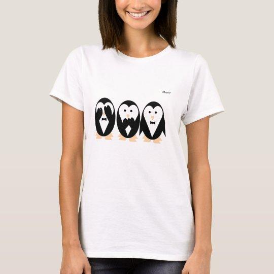 3 penguins women T-shirt