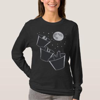 3 Pet Wolves Moon T-Shirt