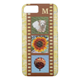 3 Photo Camera Filmstrip Old Map and Monogram iPhone 7 Case