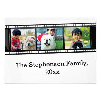 3-Photo film strip personalized photo Card