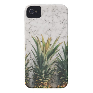 3 Pineapple Fruit on White and Grey Sand iPhone 4 Cover