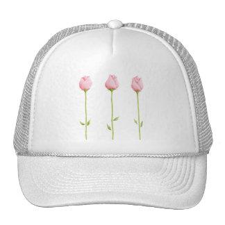 3 Pink Rosebuds Hat
