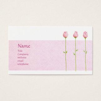 3 Pink Rosebuds Profile Card
