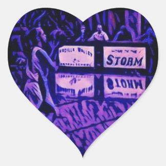 3-pointers to Heaven Heart Sticker