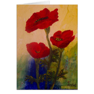 3 Poppies Card