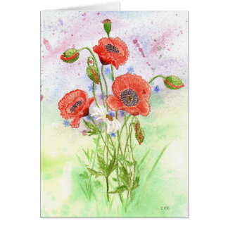 '3 Poppies' Card