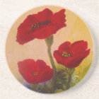 3 Poppies Coaster