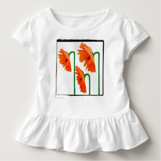 3 poppies with edge toddler t-shirt