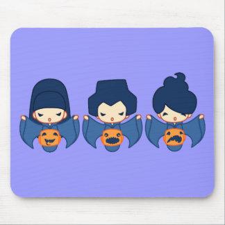3 pumpkins mouse pad